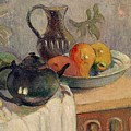 Teiera Brocca E Frutta by Paul Gauguin