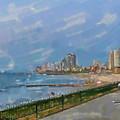 Tel Aviv Beachline by Harald Hillemanns