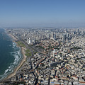 Tel Aviv Israel Elevated View by Dragonfly
