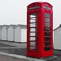 Telephone Box By The Sea I by Helen Northcott