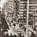 Telephone Wires Over New York, 1887 by Everett