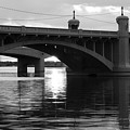 Tempe Town Lake Bridge Black And White by Jill Reger