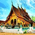 Temple In Laos by Dominic Piperata