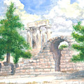 Temple Of Apollo - Corinth by Dan Bozich