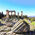 Temple Of Apollo In Ancient Corinth by Susan Vineyard