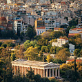 Temple Of Hephaestus Mountain Top View by Songquan Deng