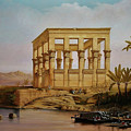 Temple Of Isis On The Nile River by Zohrab Kemkemian