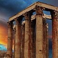Temple Of Olympian Zeus by Bob Christopher