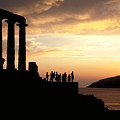 Temple Of Poseiden In Greece by Carl Purcell