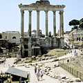 Temple Of Saturn Roman Forum Rome Italy by House of Joseph Photography