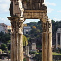 Temple Of Saturn Ruins by Angela Rath