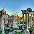 Temple Of Saturn by Troy Caperton