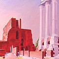 Temple Of The Castors In The Roman Forum by Gary  Hernandez