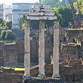 Temple Of Vesta Arch Of Titus. Temple Of Castor And Pollux. Forum Romanum by Bernard Jaubert