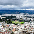 Temple Of Zeus - View From The Acropolis by Debra Martz