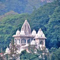 Temple In The Distance - Rishikesh India by Kim Bemis
