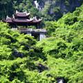 Temple Tam Coc Ninh Binh  by Chuck Kuhn