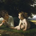 Temptation By William-adolphe Bouguereau by William-Adolphe Bouguereau