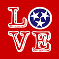 Tennessee Flag Love by Heather Applegate