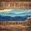 Tennessee The Smokies State Map by Rick Berk