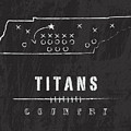 Tennessee Titans Art - Nfl Football Wall Print by Damon Gray