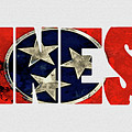 Tennessee Typography Map Flag by Kevin O'Hare