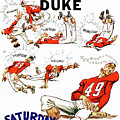 Tennessee Versus Duke 1955 Football Program by John Farr