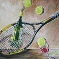 Tennis And Wine by Prentiss Halladay