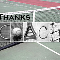 Tennis Coach Alphabet Art by Kathy Stanczak