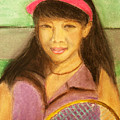 Tennis Player, 8x10, Pastel, '07 by Lac Buffamonti