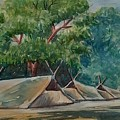 Tents Under Tree by Ajay Anand