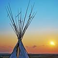 Tepee At Sunset by Matt Suess
