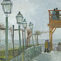 Terrace And Observation Deck At The Moulin De Blute Fin by Vincent Van Gogh