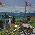 Terrace At Sainte-adresse by Claude Monet