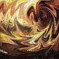 Terrestrial Flames Abstract  by Irina Sztukowski