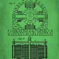 Tesla Electro Magnetic Motor Patent Drawing 2f by Brian Reaves