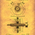 Tesla Generator 1891 Patent Art Gold by Prior Art Design