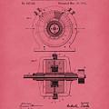 Tesla Generator 1891 Patent Art Red by Prior Art Design