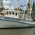 Moon Shadow Shrimp Boat In Mccellanville Sc by Dale Powell