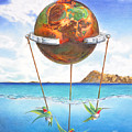 Tethered Sphere by Melissa A Benson