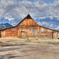 Teton Barn Front View by David Armstrong