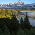 Teton Morning Snake River Overlook by Vishwanath Bhat