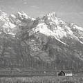 Teton Range Charcoal Sketch by Dan Sproul