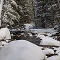 Teton River In Winter by Lucy Bounds
