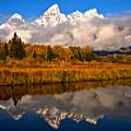 Teton Snow Cap Reflections by Adam Jewell