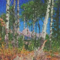 Tetons And Aspens by Ed Moore