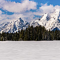 Tetons In Winter by TL Mair