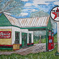 Texaco Gas Station by Kathy Marrs Chandler