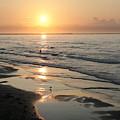 Texas Gulf Coast At Sunrise by Marilyn Hunt