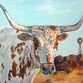 Texas Longhorn by Jana Goode